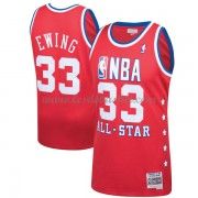 Maillot NBA Pas Cher New York Knicks Patrick Ewing 33# Red 1989 All Star Hardwood Classics Swingman..